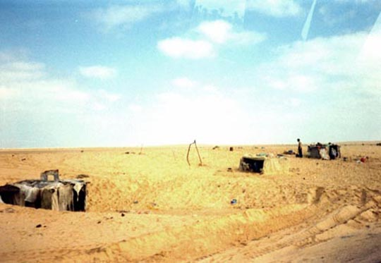 Nomads in a desert wasteland