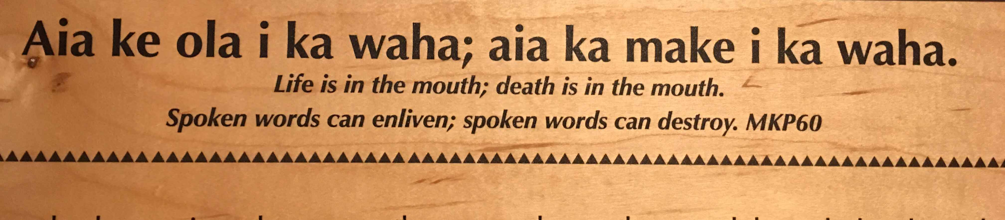 Life and death can both come from the mouth