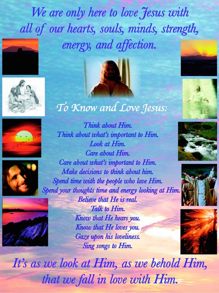To Know and Love Him