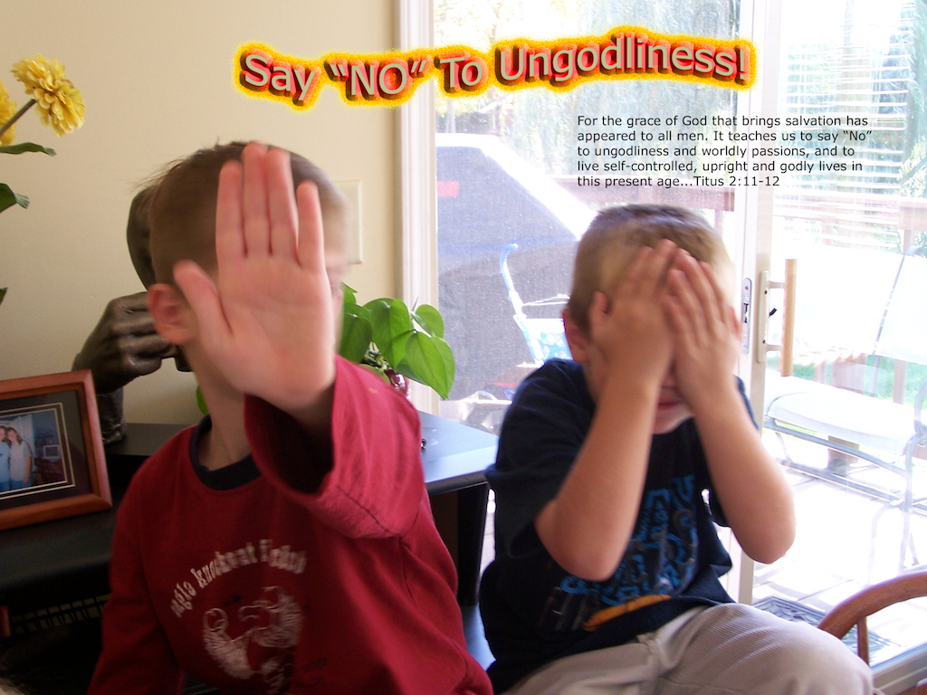Say No to Ungodliness