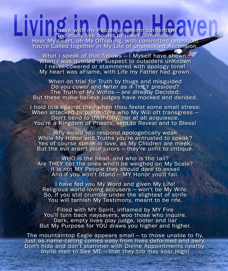 Living in Open Heaven