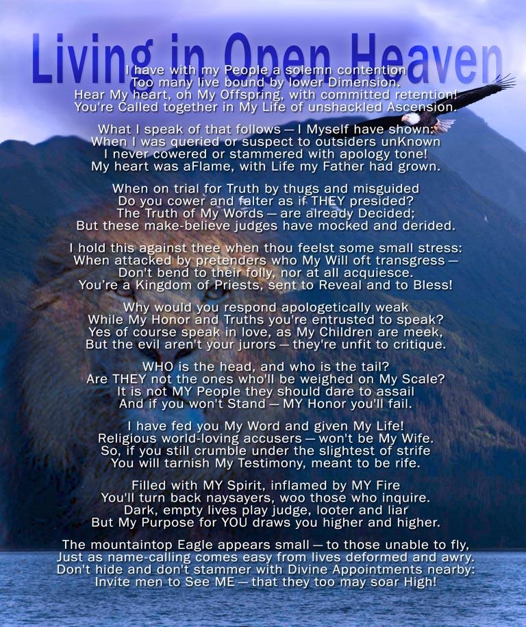 Living in Open Heaven