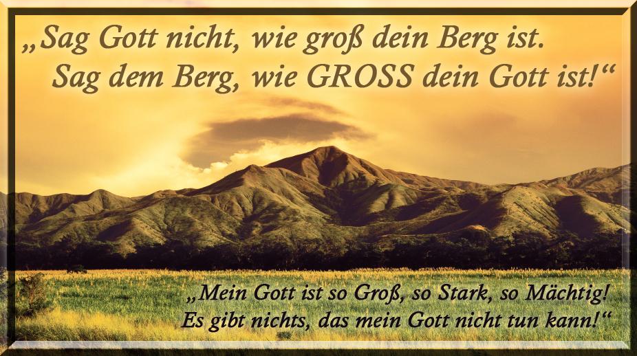 """""""GIB MIR DIESEN BERG!"""""""